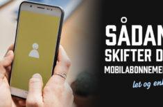 Hvordan skifter man mobilabonnement?