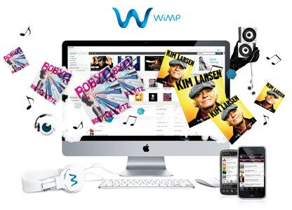Wimp tilbyder et stort udvalg dansk og international musik