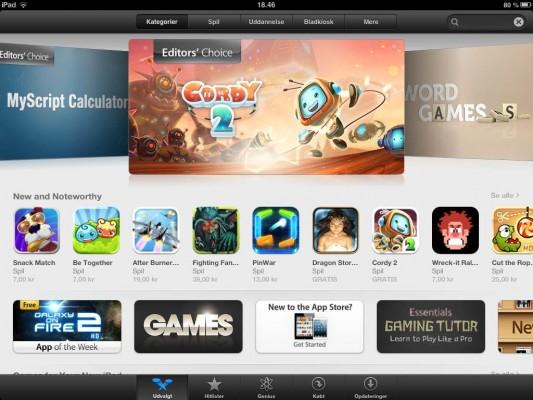Download af apps på Appstore