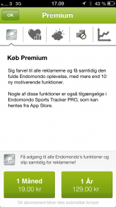 Køb Endomondo Premium for 19 kr./md.