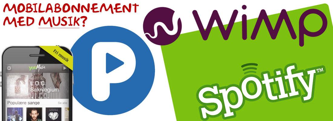 mobilabonnement med spotify